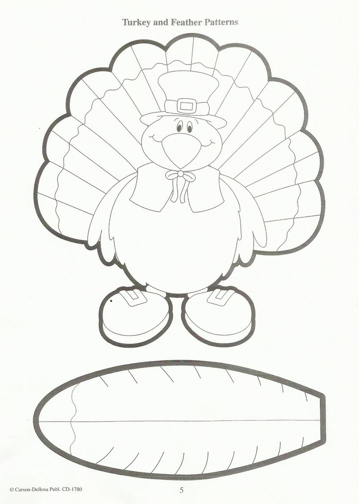 97 best thanksgiving craft for kids images on pinterest for Thanksgiving turkey template