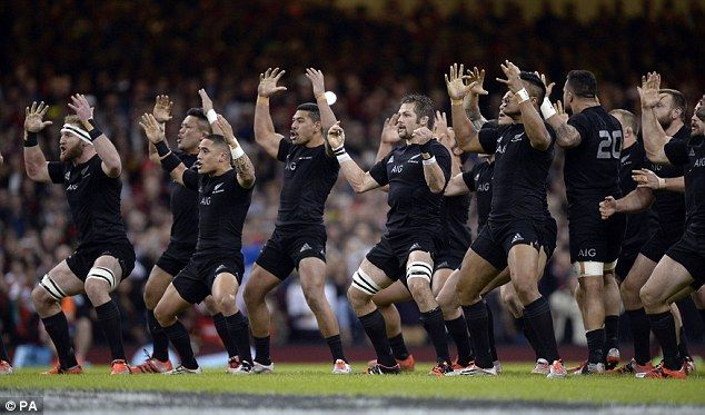 'GO'- THE AB'S..The All Blacks perform the Haka before the match against Wales on Saturday at the Millennium Stadium
