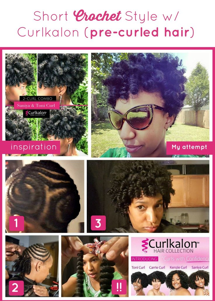 Short Crochet Style Install with Curlkalon Hair  Curlkalon| Protective style| Natural Hair| Marley Hair