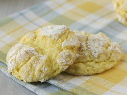 Lemon Cake Cookies  1 box Betty Crocker® SuperMoist® lemon cake mix 1 container (8 oz) frozen whipped topping, thawed 1 egg 1/2 cup powdered sugar