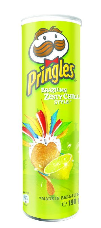 I got that fever for the flavor of a Pringle!!! /Pringles Brazilian Zesty Chili Style. #packaging