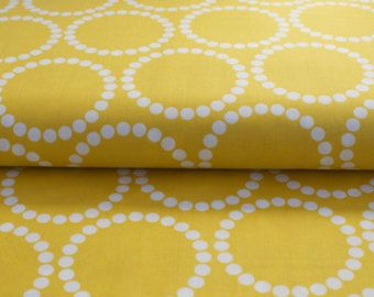 Pearl Bracelets Meyer Lemon Yellow by Lizzy House for Andover Fabrics 1 Yard Cut 100% Cotton Fabric