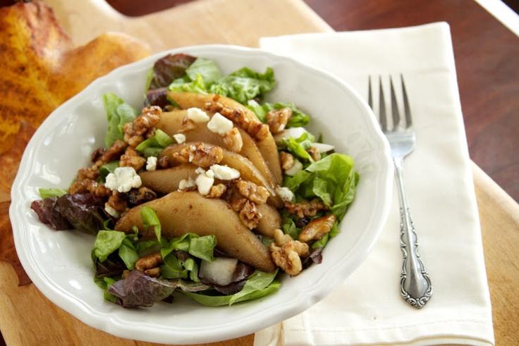 Naturally Ella | Pear, Walnut, and Gorgonzola Salad | Naturally Ella
