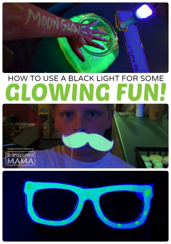 Fun and Easy Kids Activities that GLOW - Fun Idea for a Kids Party, Too!  - at B-Inspired Mama
