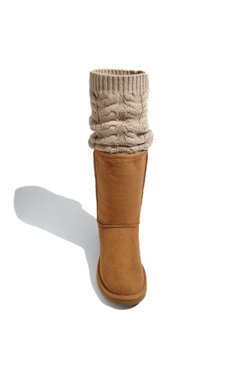 LOVING these UGGS - you can either where the knit overlay pulled over the boot or as a boot sock - NEED