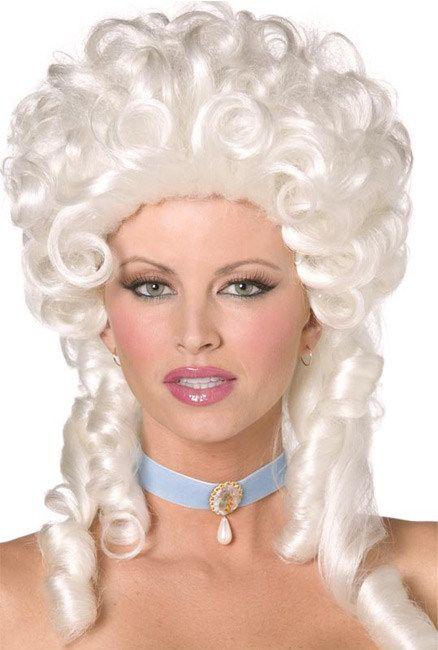 Baroque Wig Curls white - Artikelnummer: 243730000 - ab 24.99 EURO - bei www.racheshop.de!