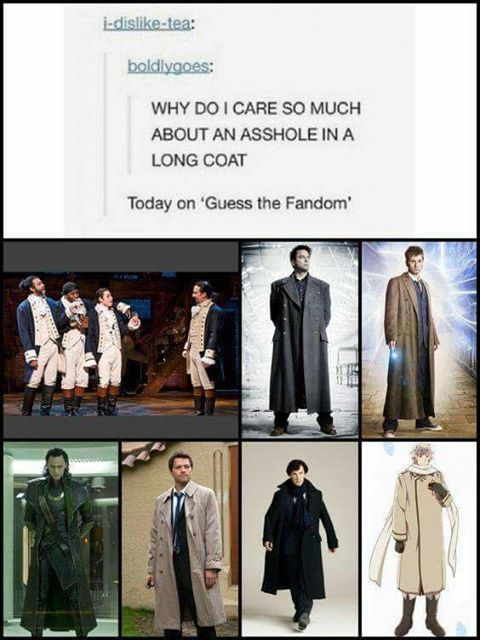 Doctor Who and Hamilton for me.>>> Hamilton and Loki for me<~ Why am I in 5 of these Fandoms!? Should I be concerned?
