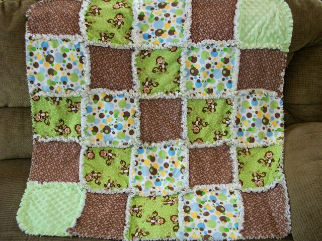 Monnkey rag quilt My Sewing Pinterest Quilt, Rag quilt and Brown