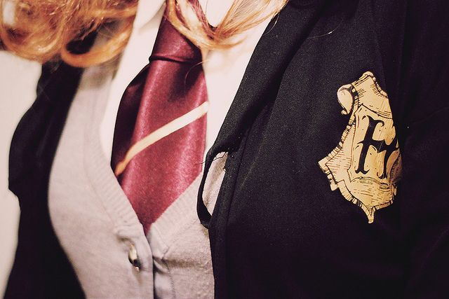 Gryffindor: Students Life, Hp Fashion, Harry Potter Sweaters, Mischief Management, Clothing Lists, Hogwarts Inspiration, Harry Potter Fashion, Gryffindor Common, Hogwarts Uniforms