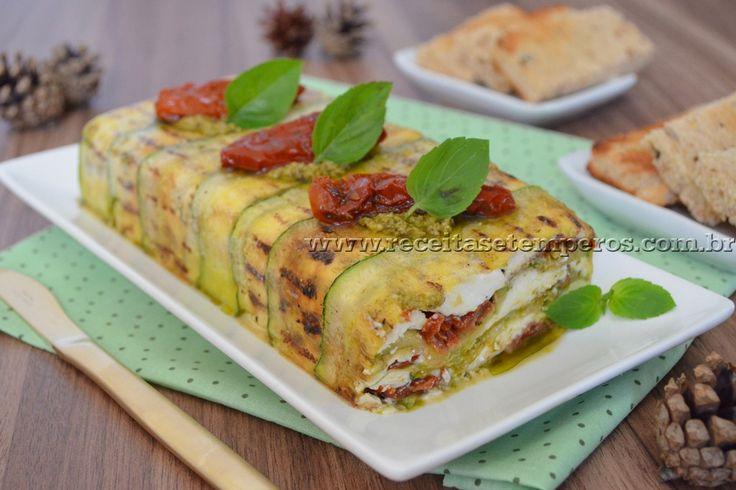 Terrine de tomate seco, abobrinha e manjericão   Receitas e Temperos
