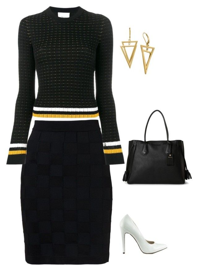 """""""Untitled #1841"""" by netteskytte on Polyvore featuring Balmain, 3.1 Phillip Lim, Michael Antonio and Longchamp"""