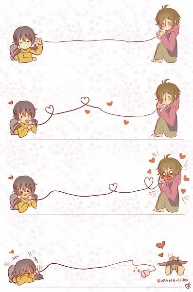 This is super cute! :3 Tamako and Mochizou.