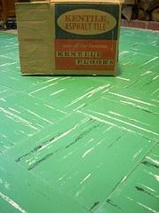 oooooohh vintage green floor tile....lovely colour!   Kentile (JAVA1888)