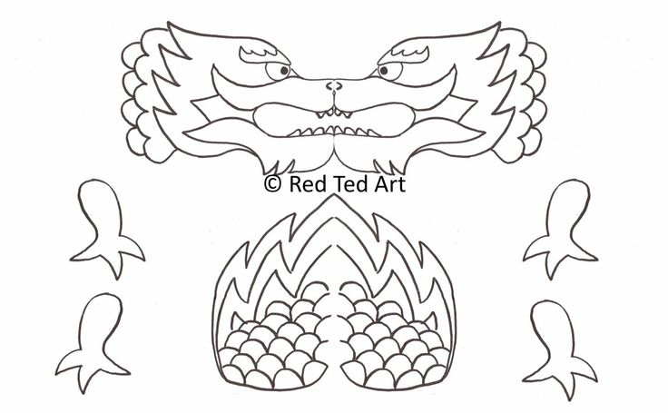 dragon puppet   Chinese New Year Craft: Dragon Puppet & Free Printable