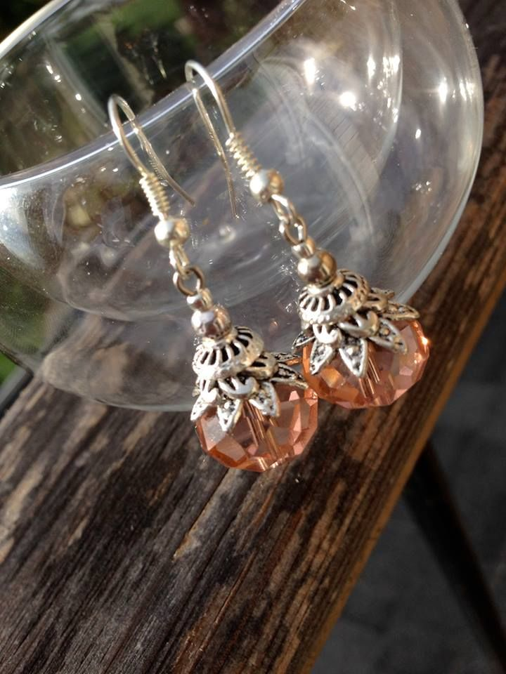 Handmade in Morocco in an ethically and environmentally friendly manner. Peach sparkle earrings! oneearthbydanielle@gmail.com - Free shipping! Get these for $22.95 + tax Canadian