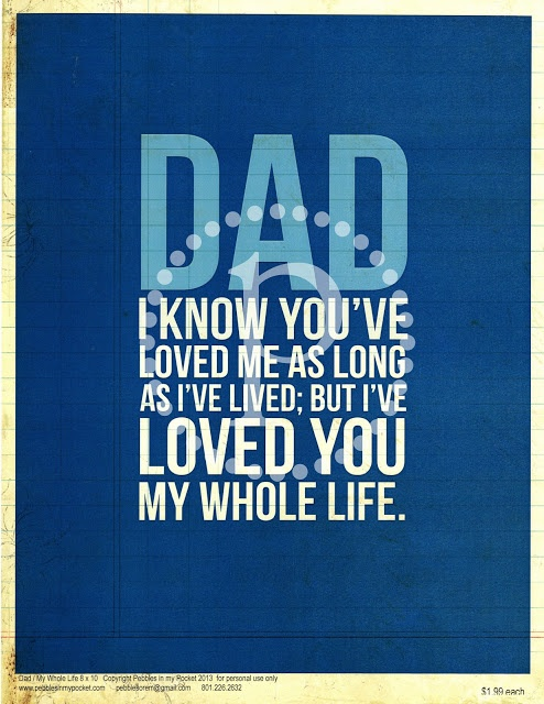 Fathers Day Quotes $1.99 Pebbles in my Pocket this has to be the cutest saying EVER!!!