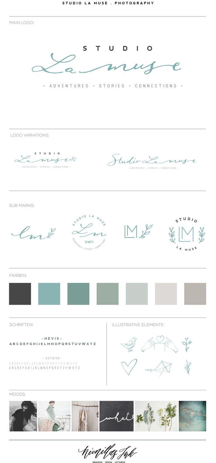 Photography Branding Branding Board Logo calligraphy logo brand identity  Green
