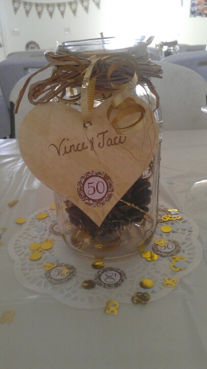 50th Anniversary Centerpiece Wedding Decor Pinterest