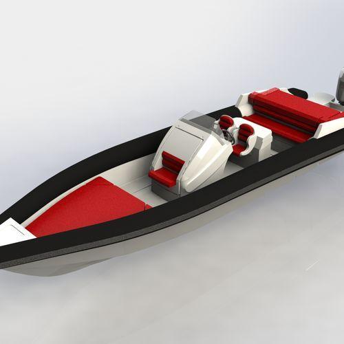 Bateau pneumatique in-bord / hors-bord / diesel / semi-rigide 90 Skipper
