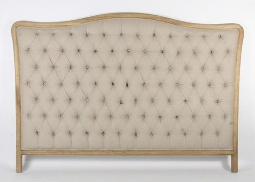 Zentique Maison Tufted Headboard in Natural Linen traditional headboards