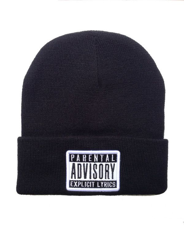 c2b20aec231c5c 3styles ADVISORY Parental explicit lyrics black /RED / GREY Beanie knit caps  men & women's designer beanies hats freeshipping | hat | Winter knit hats,  ...