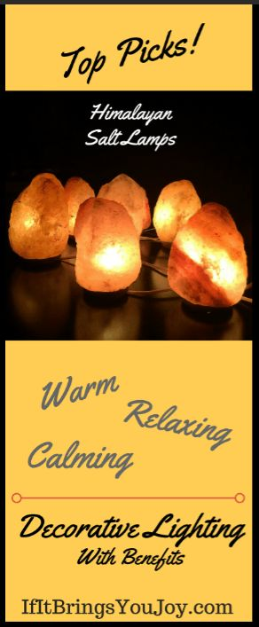 Himalayan salt lamps create a warm, relaxing, and comforting decorative lighting in my home. Himalayan salt lamps can be expensive, but look at my Top Picks and save!