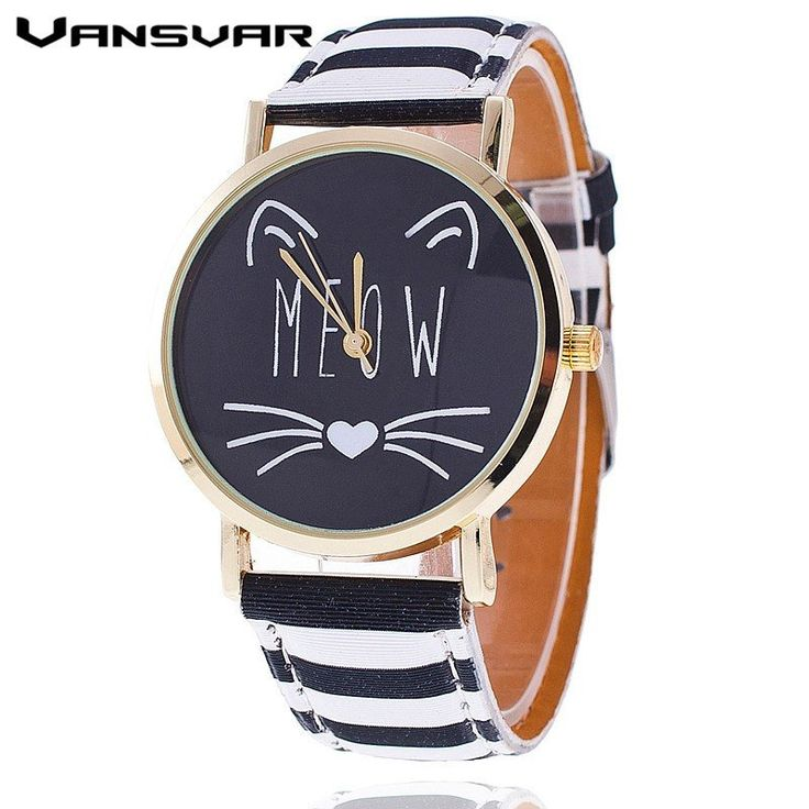 "Meow Cat Watch This watch is so cute that people will take note and ask, ""Do you love cats too?"" It's a conversation starter and even when you are alone, you'll be constantly cheered up by the cute li"