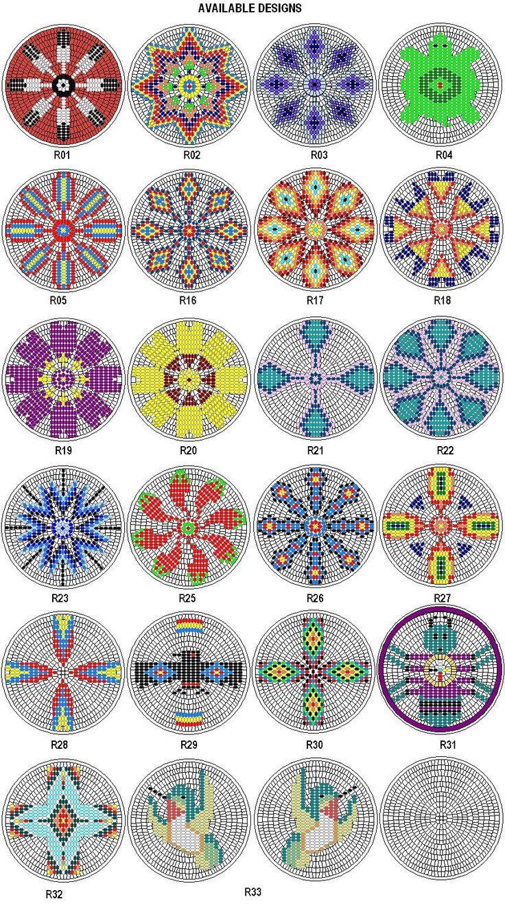 "Rosette Kit Fabric Native American Designs to Make 2 5"" Dia 4 | eBay"