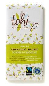 Tohi 70g. Ciocolata organica cu lapte ecologic, mere si scortisoara