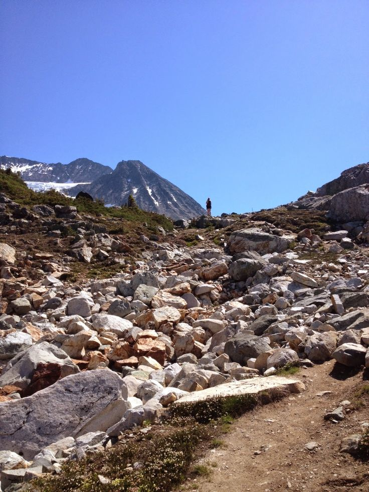 Near the top of Wedgemount Lake in #Whistler. Click for trail details.