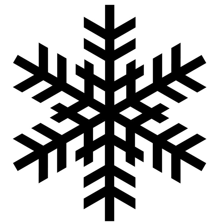 snowflake silhouettes | To download the snowflake silhouettes and other files below, simply ...