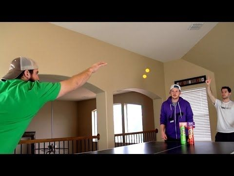 Ping Pong Trick Shots | Dude Perfect this is so cool!!!