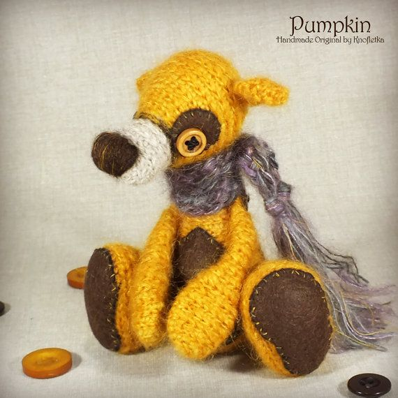Pumpkin - Original Handmade Little Teddy/Collectable/Gift/Charm