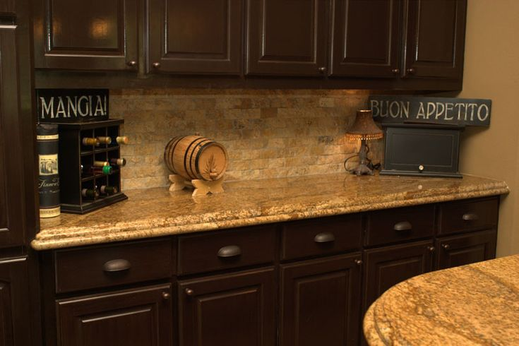 Granite, Dark kitchen cabinets and Dark kitchens on Pinterest