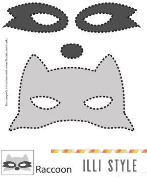 máscara de mapache plantilla imprimible - illistyle.com