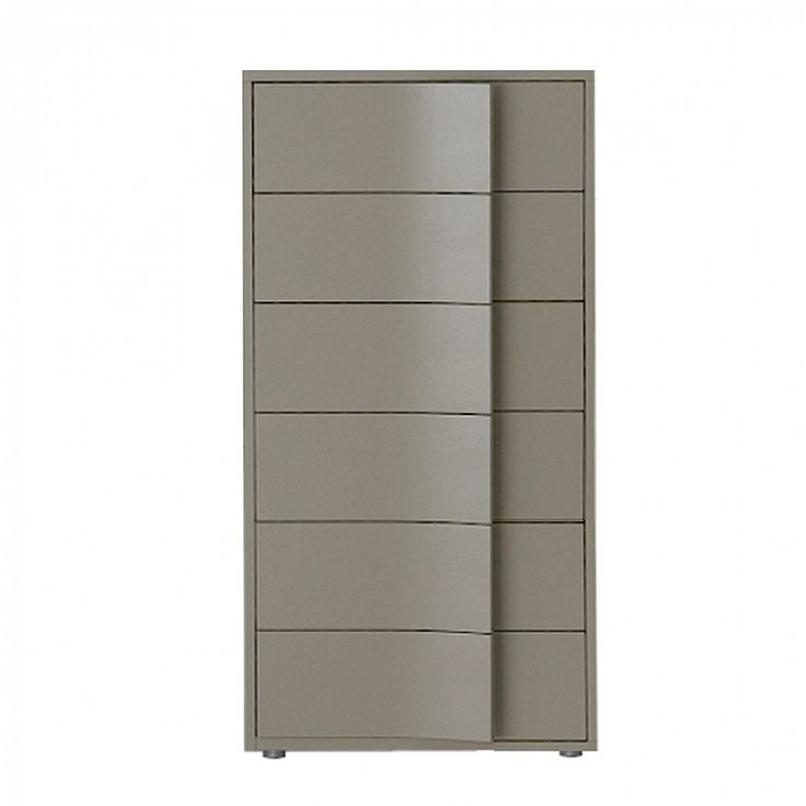 Modern tallboy with 6 drawers 'Papiro' by Orme