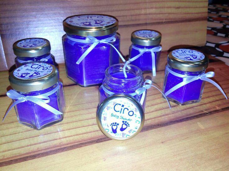 Velas aromaticas en frasquito