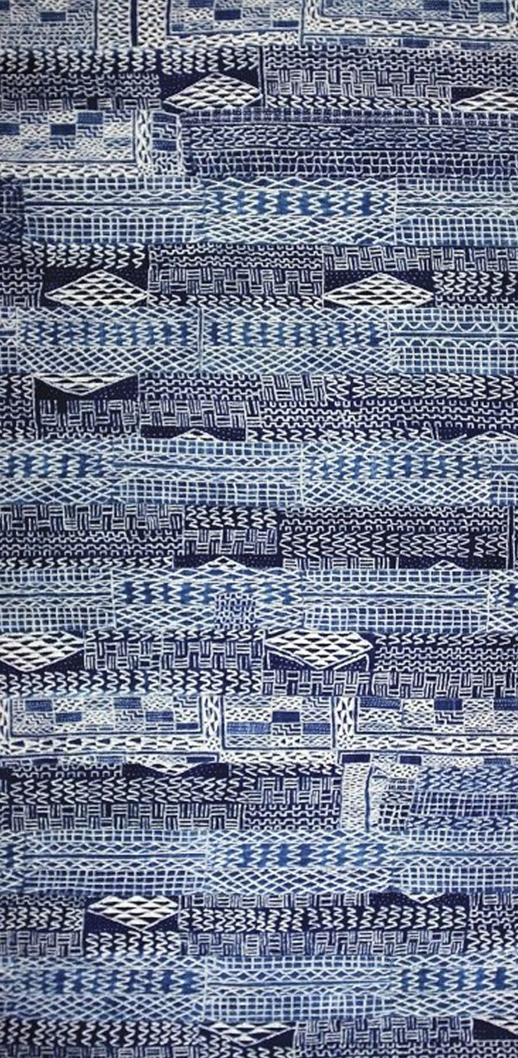 "Africa | ""Ndop"" prestige textile from the Bamileke people of Cameroon 
