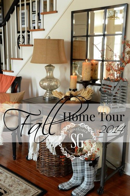 FALL HOME TOUR 2014-easy and doable fall decorating ideas- lots of organic elements-stonegableblog