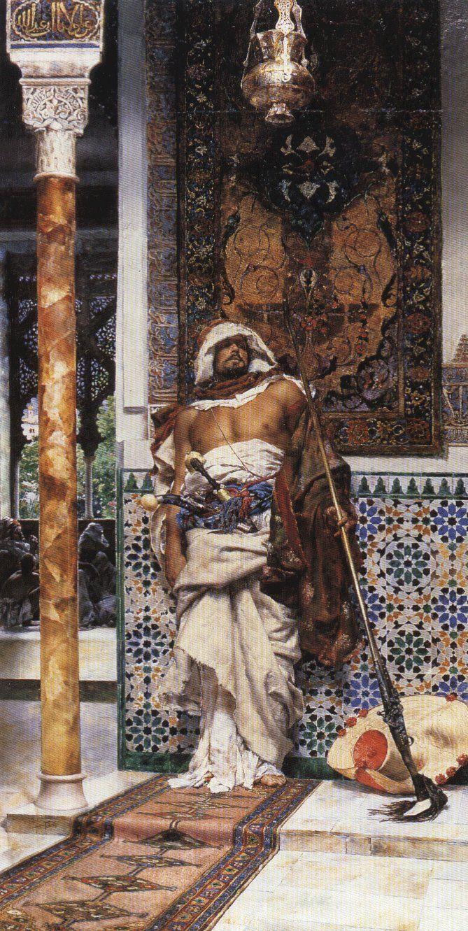 'Arab Sentinel' - Antonio Maria Fabres y Costa (Spanish, 1854 - 1936)