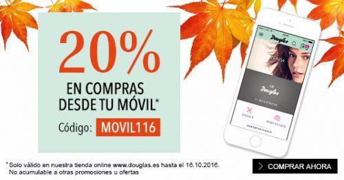 20% de descuento en compras desde tu móvil en DOUGLAS