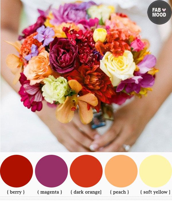 Autumn wedding bouquets ideas | http://www.fabmood.com/autumn-wedding-bouquets-ideas-fall-colors/