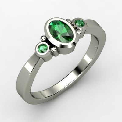Emeralds: 14K White, Diamonds, Kira Rings, Gemvara, Jewelry, White Gold Rings, Sterling Silver Rings, Oval, Engagement Rings