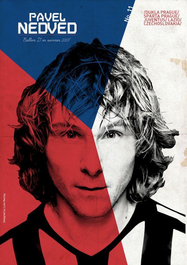 Posters de Fútbol: Nedved por Luke Barclay, via Behance