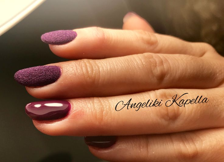 Bordeaux nails with pixie k glitter