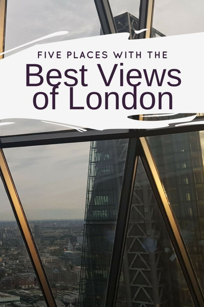 Five Places with the Best views of London. London has a sea of bold skyscrapers and the most interesting being in the city of London such as the Walkie Talkie, Cheese Grater, Gherkin and Heron Tower. Here are my top five places with the best views of London.