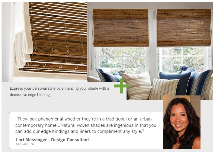 Natural woven shades are ingenious in that you can add for Smith and noble bamboo shades