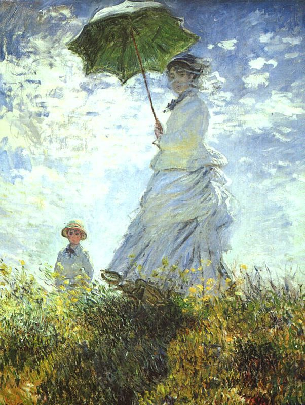 Monet's Woman with a Parasol http://www.deseoaprender.com/Monet/galleries/Camille%20Monet%20and%20Her%20Son%20Jean.jpg