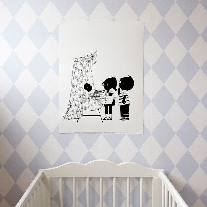 jip en janneke poster, voor in de #babykamer | Hikjes in Huis