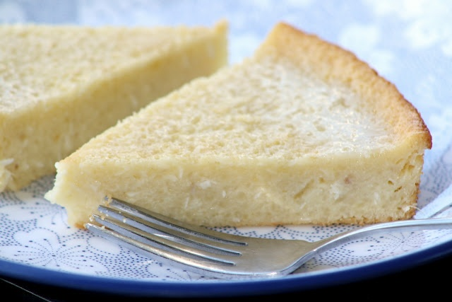 Filipino cassava cake.. sounds like Spanish tres leches cake or South African melktert (milk tart).  I think I need to make one of the three soon...ugh #Lent #begood